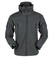 Shark Skin Military Windproof Tactical Softshell Jacket Men Waterproof Army soft shell Coat Windbreaker Rain hiking jacket