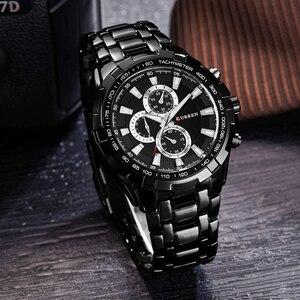 Image 4 - CURREN Fashion Business Men zegarki analogowy zegarek sportowy pełny stalowy wodoodporny zegarek na rękę dla mężczyzn relogio masculino męski zegar
