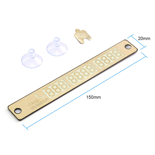 Car Styling Telephone Number Card Sticker 15*2cm Night Luminous Temporary Car Parking Card Plate Suckers Phone Number Card 4