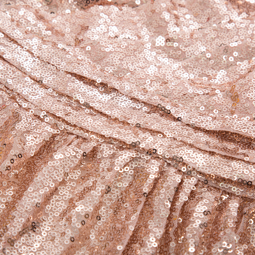Femmes longue Sequin une épaule soirée Maxi robe dames robe bal de bal