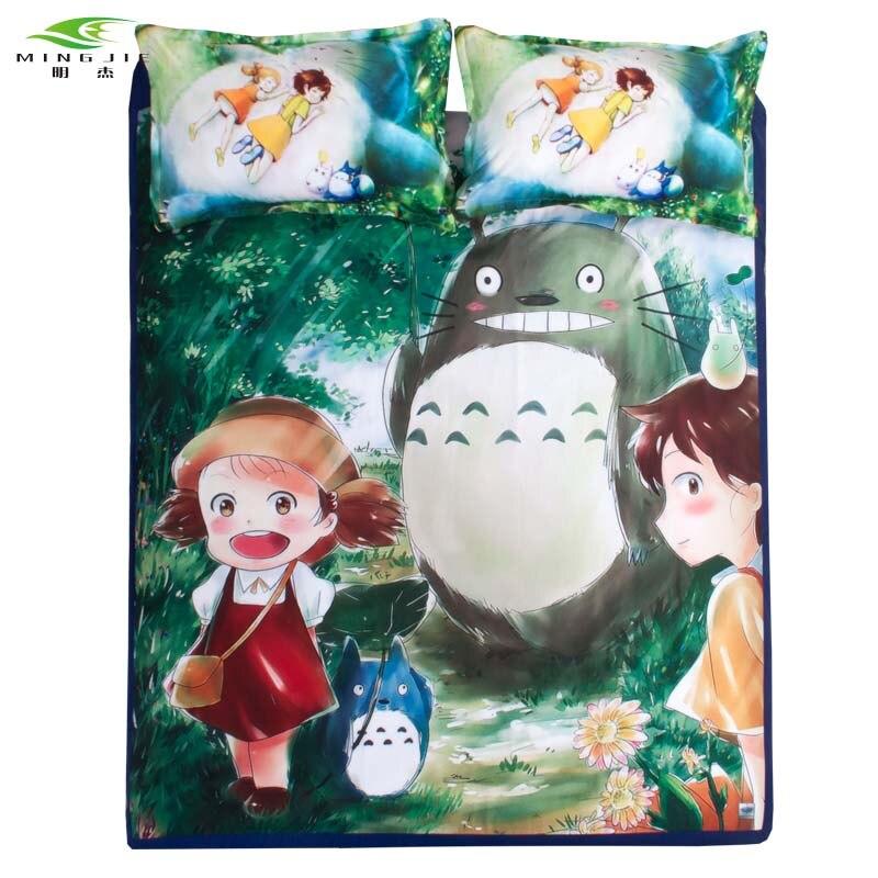 3 차원 일본 만화 애니메이션 토토로 만화 만화 침구 세트 2 개 / 3 개 세트 / 퀸 / 트윈 사이즈 침대 어린이 가정집 세트 이불 세트