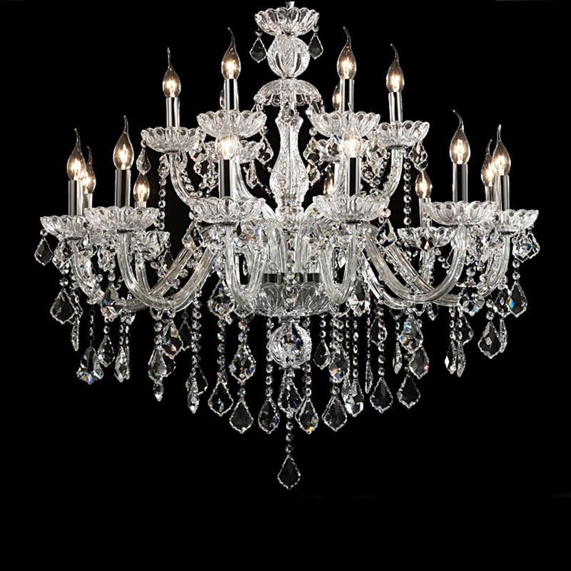 Luxury Clear Crystal LED Chandelier Lighting Living Room Chandelier K9 Crystal Chandeliers candlestick lampadario led avize