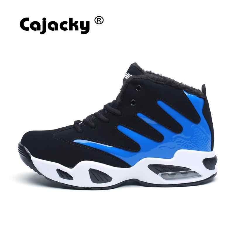 Cajacky Mannen Laarzen Enkel Herfst Warme Laarzen Unisex Mode Hoge Top Sneakers Mannelijke Winter Botas Hombre Bont Laarzen Sneeuw Schoenen lente