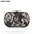 Kiss Karen Sexy Lace Flowers bolsa feminina Women Clutch Bag Charming Evening Bags Lady Clutches Night Club Party Clutch