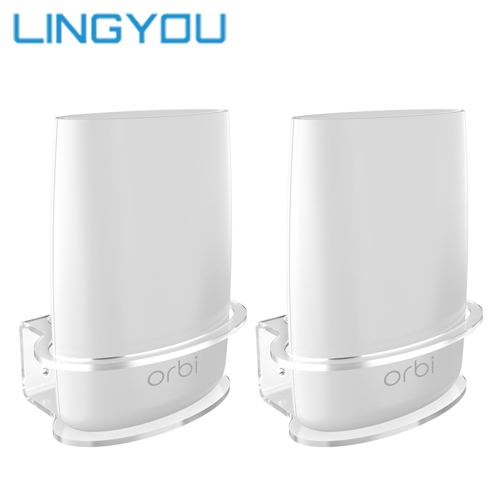 Clear Acrylic Wall Mount Sturdy Bracket For Netgear Orbi  WiFi Router RBS40, RBK40, RBS50, RBK50, AC2200, AC3000