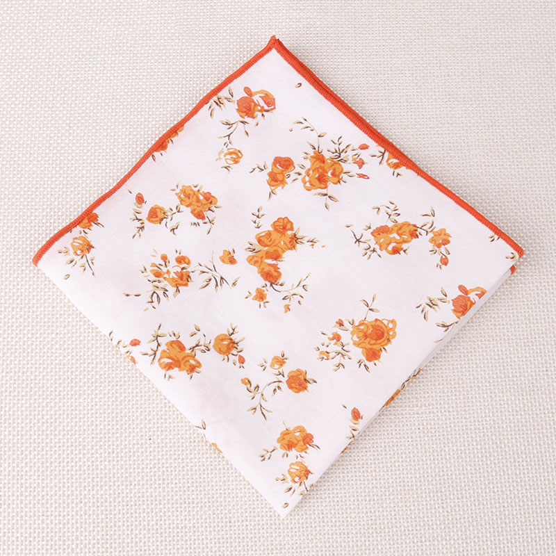 Handkerchief Fashion Men's Suits Pocket Square Floral Chest Towel Hanky Casual Business Cotton Hankies For Wedding