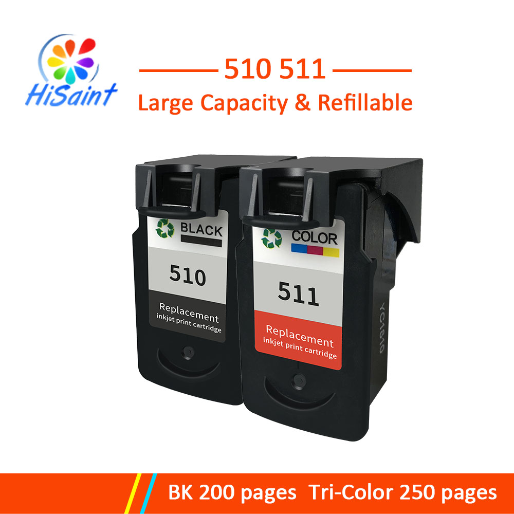 Hisaint G/pg510 CL/cl511 Compatible <font><b>ink</b></font> <font><b>cartridge</b></font> PG 510 CL 511 for <font><b>Canon</b></font> Pixma IP2700 MP240 <font><b>MP250</b></font> MP260 MP270 MP280/480 printer image