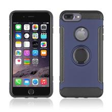 360° Rotating TPU+PC Ultra Thin Carbon Fiber Ring Bracket Mobile Phone Case For iPhone 6 Plus 5.5 Anti Scratch
