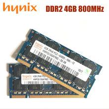 Чипсет Hynix, память для ноутбука, 4 Гб DDR2, 800 МГц, 4G, 800, 6400S, 4G, 200-pin, бесплатная доставка