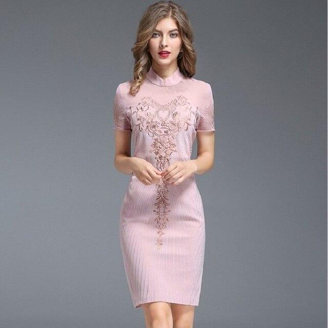 d079872ab7455 Work Pencil dress 2018 NEW Summer Women Clothing autumn Party Dress plus  size M XXXL Short sleeve retro free shipping dresses