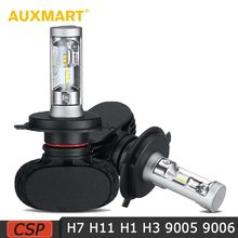 Auxmart 9005 HB3 9006 HB4 LED Headlight Car Lights 50W Auto LED H7 Headlight Bulbs LED H1/H3/H11 Car Headlamps 6500K 12V 24V(China)