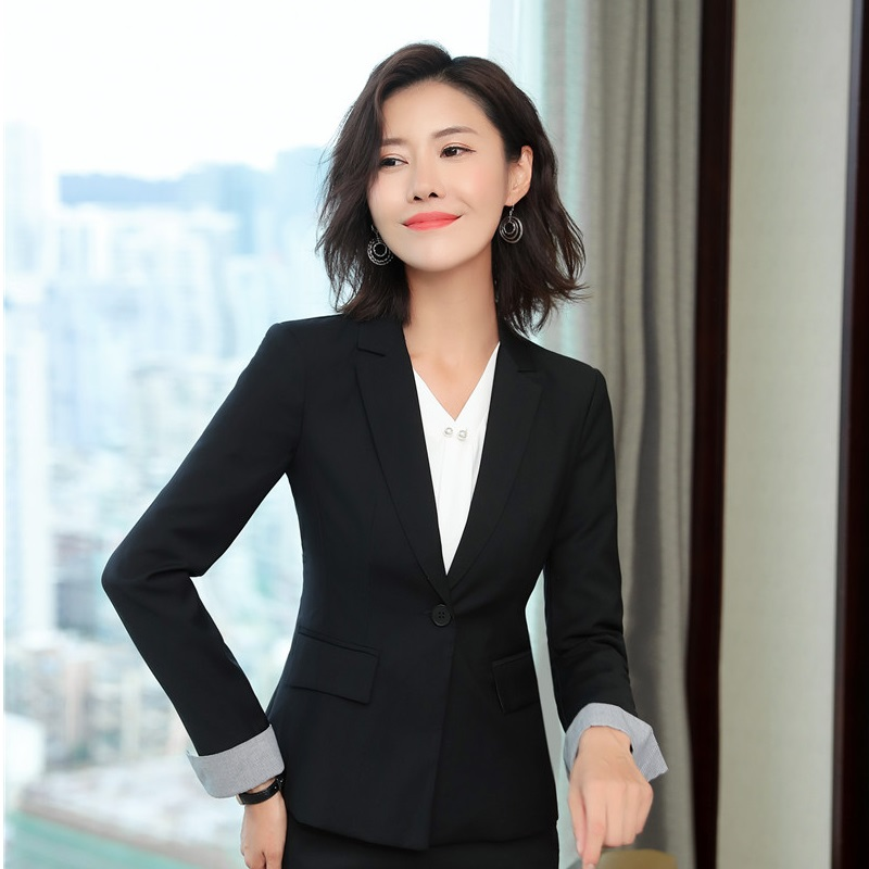 Fashion Patchwork Uniform Designs Blazers Jackets Coat For Women Business Work Wear Tops Female Blazer OL Styles Clothes