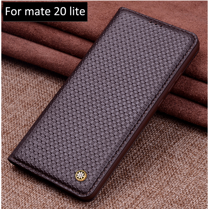 For Huawei Mate 20 lite Phone Case Cover Genuine Leather shell Ultra Thin PU Holder For Huawei Mate20 lite flip cases