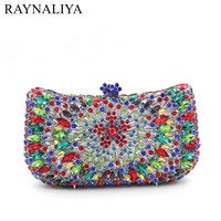 Top Quality Small Clutch Purse Bag Prom Discount Price Wholesale Floral Crystal Wedding Bags For Bride Evening Bags SMYZH-E0314