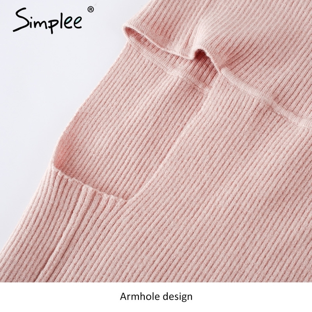 Simplee Vintage elastic camisole tank top Off shoulder knitted crop top women tops Sexy short knitting cropped cami sweater 2017