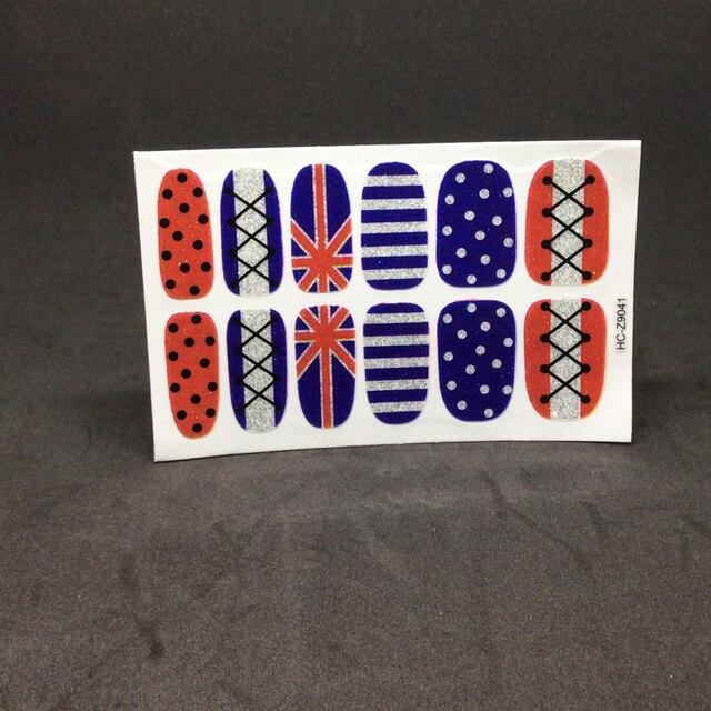 high quality adhesive nail wrap art paper template nails sheet