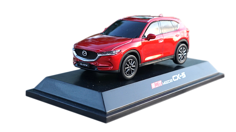 1:43 Plastic  Model For Mazda CX-5 2018 Red SUV Plastic Toy Car Miniature Collection Gift CX5 CX 5
