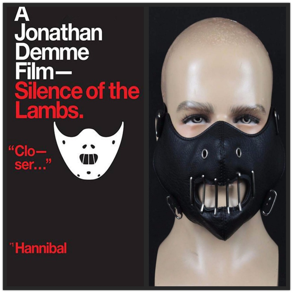 Classical The Silence Of The Lambs Mask Cosplay Hannibal Lecter Steel Teeth Masks Masquerade Horror Masks Halloween Party Props