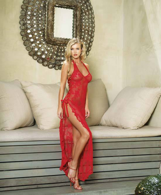 2017 sexy lingerie hot erotic dress porn sleepwear women chemise vestido robe lenceria night gown with lace mesh red S-6XL 4XL