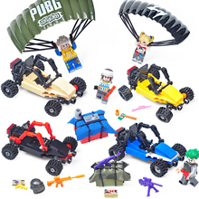 Jedi survival PUBG Sniper Guns Battlefield car Airdrop parachute Compatible Legoingly Army ww2 Soldier Building Blocks Toys