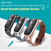 2in1 M6 Смарт часы браслет Спорт Смарт Браслет Bluetooth наушники для IOS Android-смартфон Высокое качество