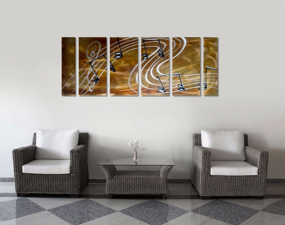 Original Music Notes Abstract Aluminum Wall Art Metal Wall
