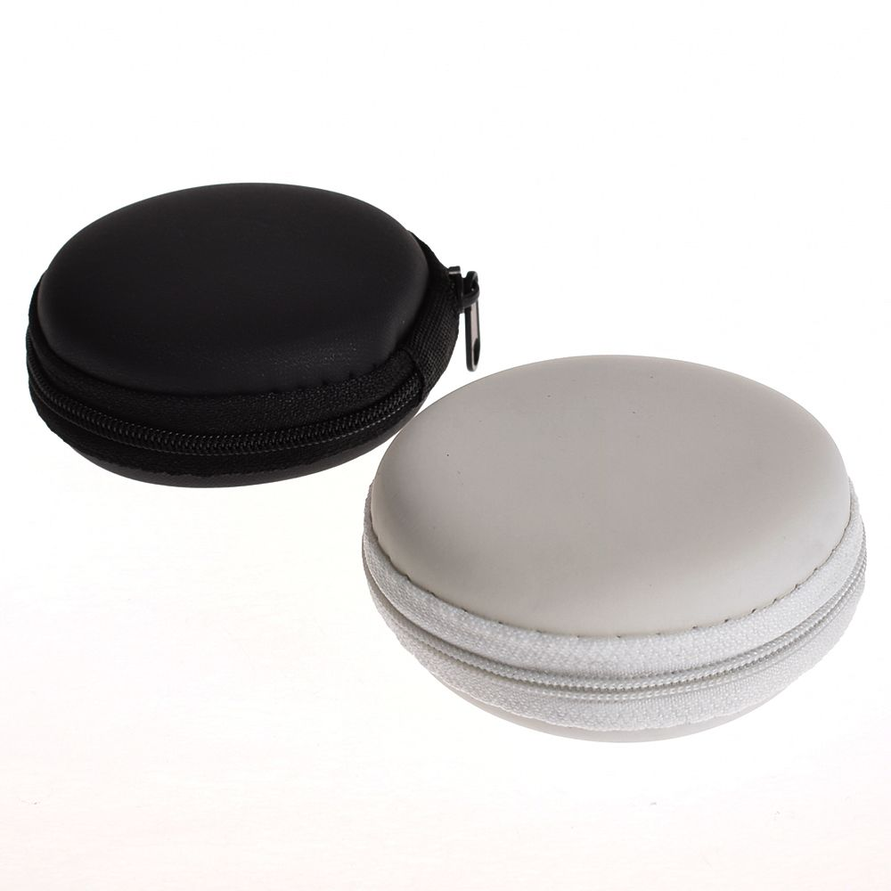 Case Earphone-Case Headset-Box Storage Round Portable For Mini Zippered Hard-Bag Tf-Cards