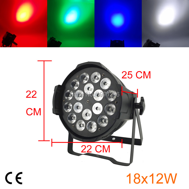 18 X12W LED PAR Light RGBW 4in1 Par Led DMX Control Disco Lights Professional Dj Equipment 2pcs dj disco par led 54x3w stage light dmx strobe flat luces discoteca party lights laser rgbw luz de projector lumiere control