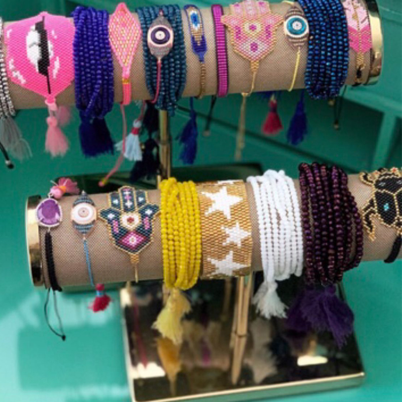 SHINUSBOHO Boho Men Jewelry Star MIYUKI Bracelets for Women Tassel pulseiras feminina Statement Bracelet Bangle Friendship Gift