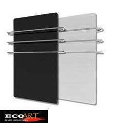 500w Bathroom Gl Far Infrared Heater With 3pcs Towel Rails