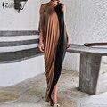 Vestidos de moda 2017 mujeres del verano corto batwing solo hombro sexy piso de longitud vestidos de fiesta largo maxi dress plus size