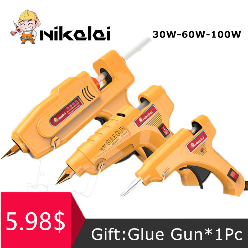 60W EU/US Plug Hot Melt Glue Gun Suit For 11mm Glue Sticks