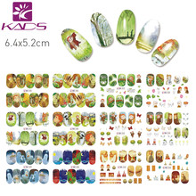 KADS BN325-336 Secrets of Kell Design Cartoon Cute Full Cover Nail Art Water Wraps Sticker Decal For Nail Decoration(China)