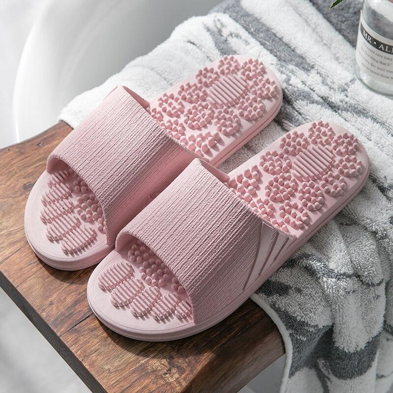 2019 TZLDN Men Women Slippers Summer Fashion Foot Massage Indoor Outdoor Flip Flops Non-slip Lady shoes Beach bathroom slipper 18