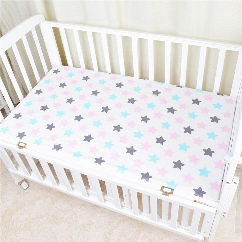 120*65 см детский матрас облака Фламинго Хлопок Дышащие простыни детские постельные принадлежности Детская кровать Чехол Новорожденный Фотография реквизит - Цвет: Color star