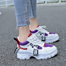 Lucyever 2019 New Spring Women Casual Shoes Female Durable Platform Lace Up fur Footwear Student School Shoes Zapotos Mujer