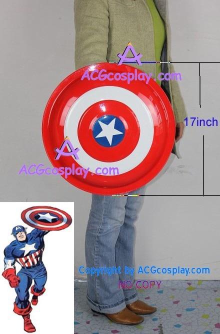 Captain America Shield metal made diameter 17 high quality cosplay prop