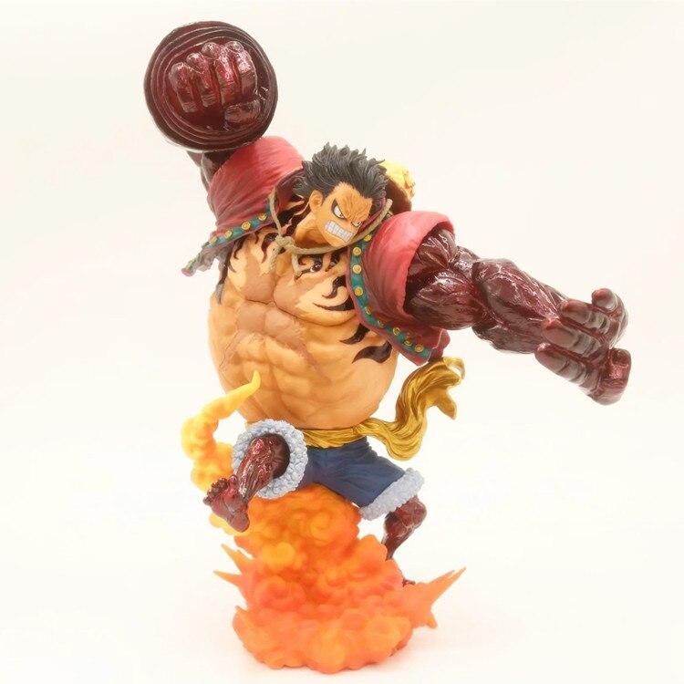 Anime 1/8th échelle une pièce lié homme singe D Luffy Gear 4 Kong pistolet cramoisi couleur Ver. Figurine PVC jouet Brinquedos 23.5 CM