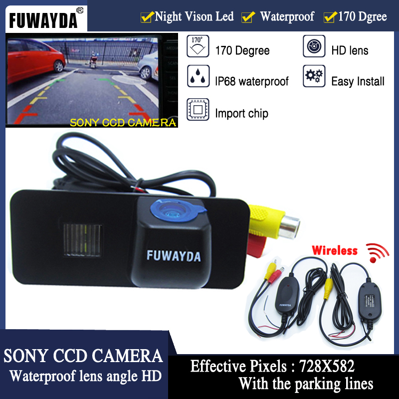 FUWAYDA Wireless SONY CCD Car Rear View CAMERA for VW <font><b>Volkswagen</b></font> PHAETON/SCIROCCO/<font><b>GOLF</b></font> <font><b>4</b></font> 5 6 <font><b>MK4</b></font> MK5/EOS/LUPO/BEETLE image