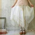 Japanese Fashion Forest Girl Style Loose Plus Size Lace Boho Linen  Harajuku Vintage Jupe Princess Skirt Mori Girl X040