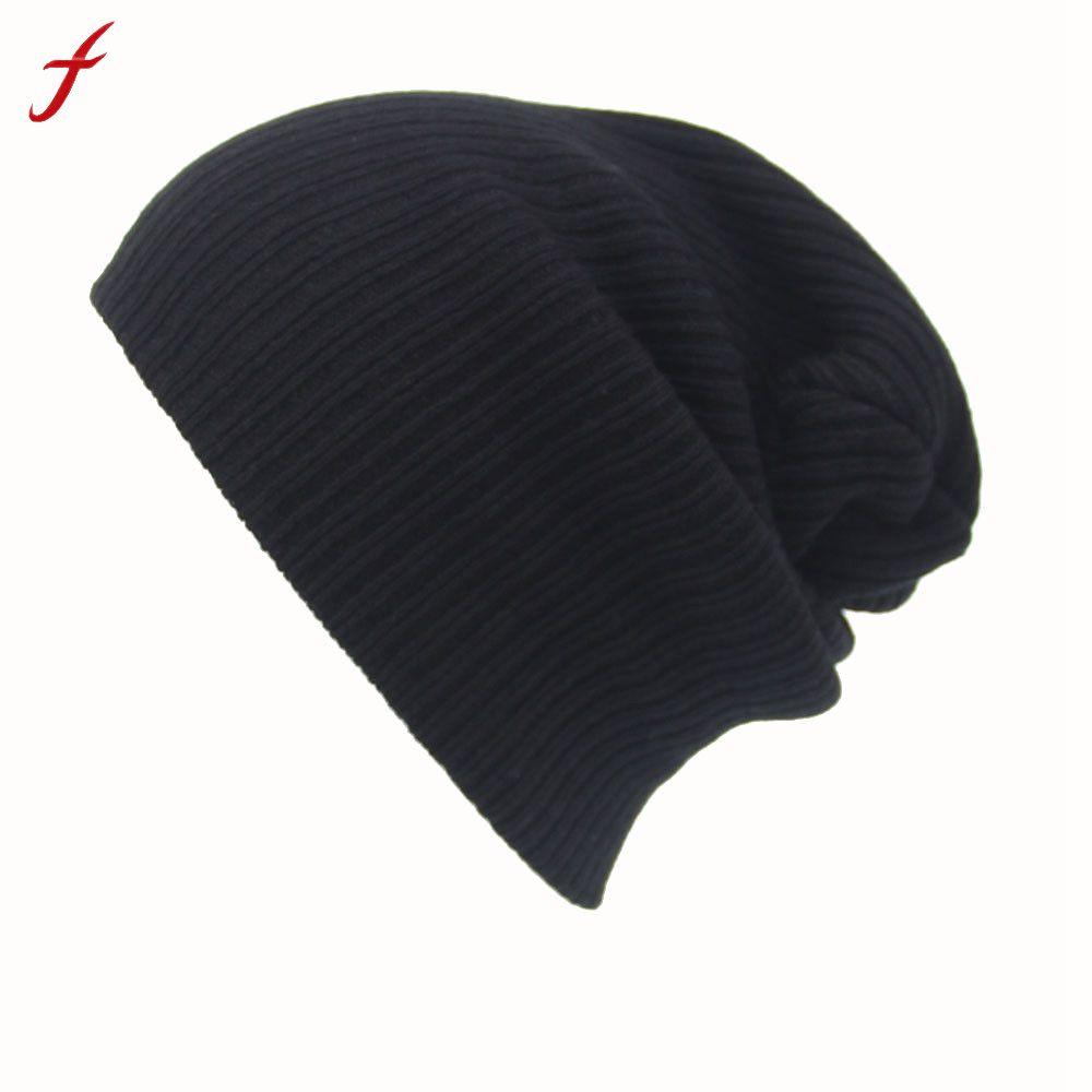 Feitong Winter Casual Hip Hop Beanies Hat For Men Women Knitted Hats Crochet Ski Cap Warm Skullies Gorros 2pcs winter hats cute ear crochet knitted caps skullies beanies cap hats for women female hats bonnet femme beanies gorros