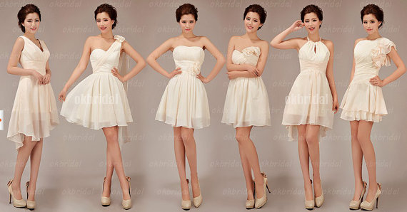 bridesmaid dresses same color and fabric different style - Bridesmaid Dresses Same Color Different Style