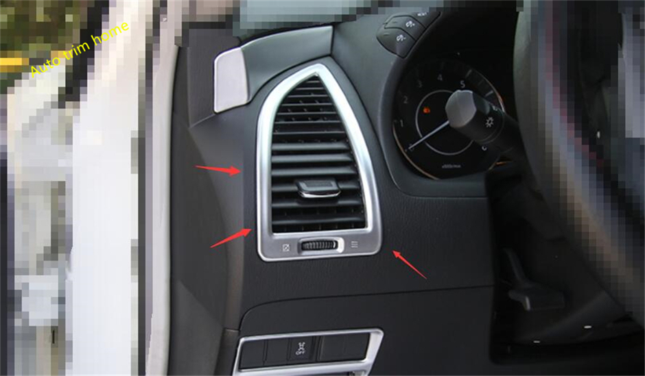 For Nissan Armada Patrol Royale Nismo Y62 2016 2017 2018 Air Conditioning AC Outlet Vent Decor Frame Molding Garnish Cover Trim