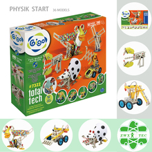 Gigo 243PCS 10 Models Enjoying Fun Basic Physics Toys with Mechaanical Pets, Machines and Vehicles Best Gift for Children