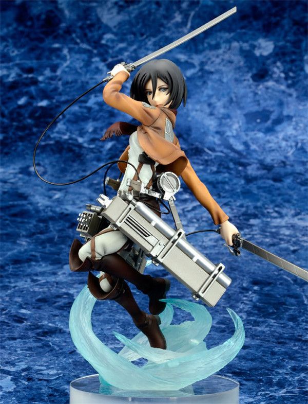 New Anime Figure Attack on Titan Brinquedos Figma Mikasa Ackerman 23cm PVC Action Figure Model Doll Kids Toys Drop Shipping
