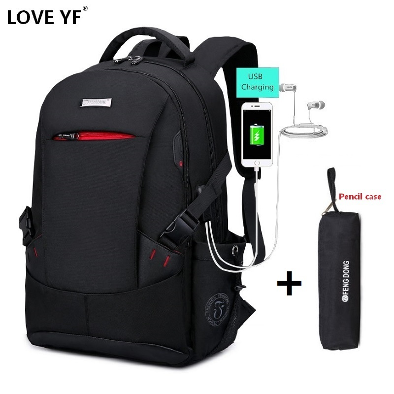 Black Fashion Travel Backpack High Quality Nylon Shockproof Laptop Backpack Men's Women's Cartable Scolaire Fille College