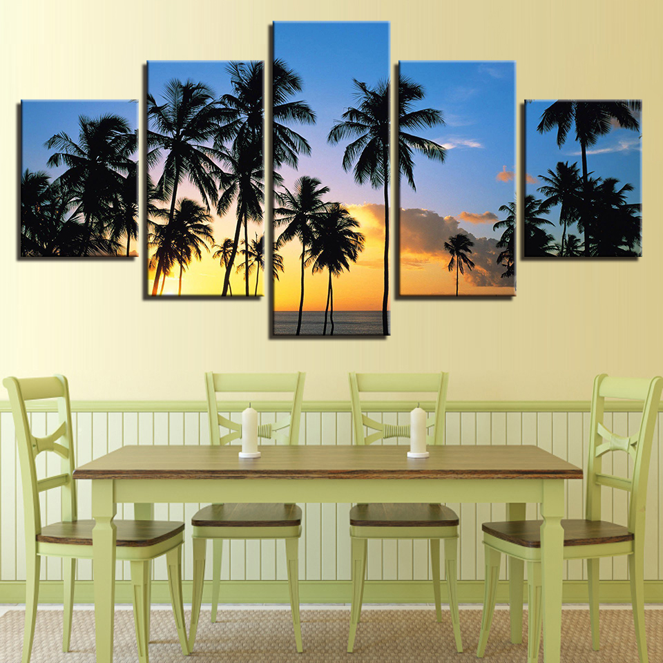 Home Decor Prints Wall Art Pictures 5 Piece Sunrise Break Of Day ...