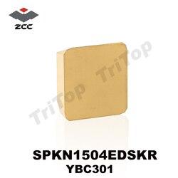 Livraison gratuite 10 pièces SPKN 1504 EDSKR YBC301 outils de coupe de tour lame de CNC en alliage carbure CVD insert de fraisage SPKN1504