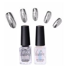 2pcs Metallic Polish Professional Gel Nails Silver Gel Nail Varnishes Metal Glue Gel Top And Base Coat Gel Nail Polish