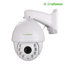 Profesyonel PTZ IP kamera açık 3516A + Sony335 4.6mm 167mm gerçek 36X Zoom lazer LED 300m CCTV güvenlik su geçirmez G. Usta
